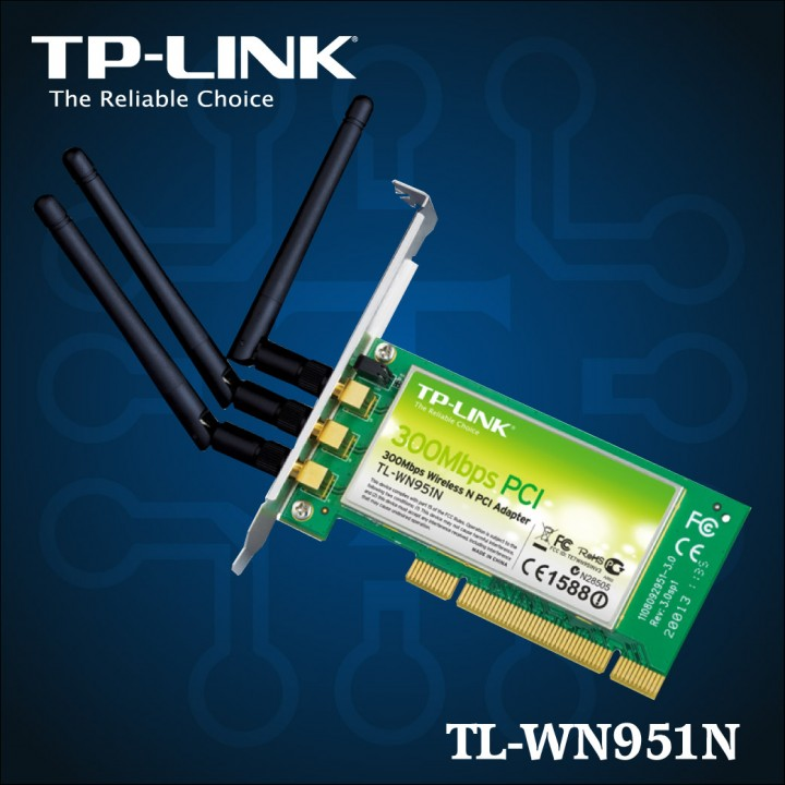 TL-WN951N - N 300 Mbps Wireless PCI Adapter-01