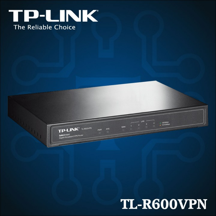 TL-R600VPN - La banda ancha Gigabit Router VPN SafeStream -01