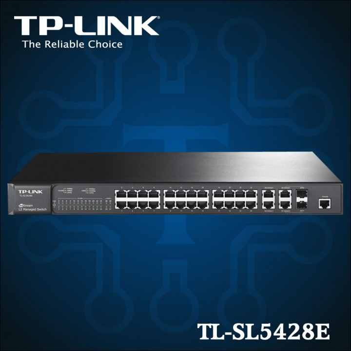 TL-SL5428E - JetStream de 24 puertos 10 - 100Mbps + Gigabit L2 de 4 puertos Switch Gestionable-01